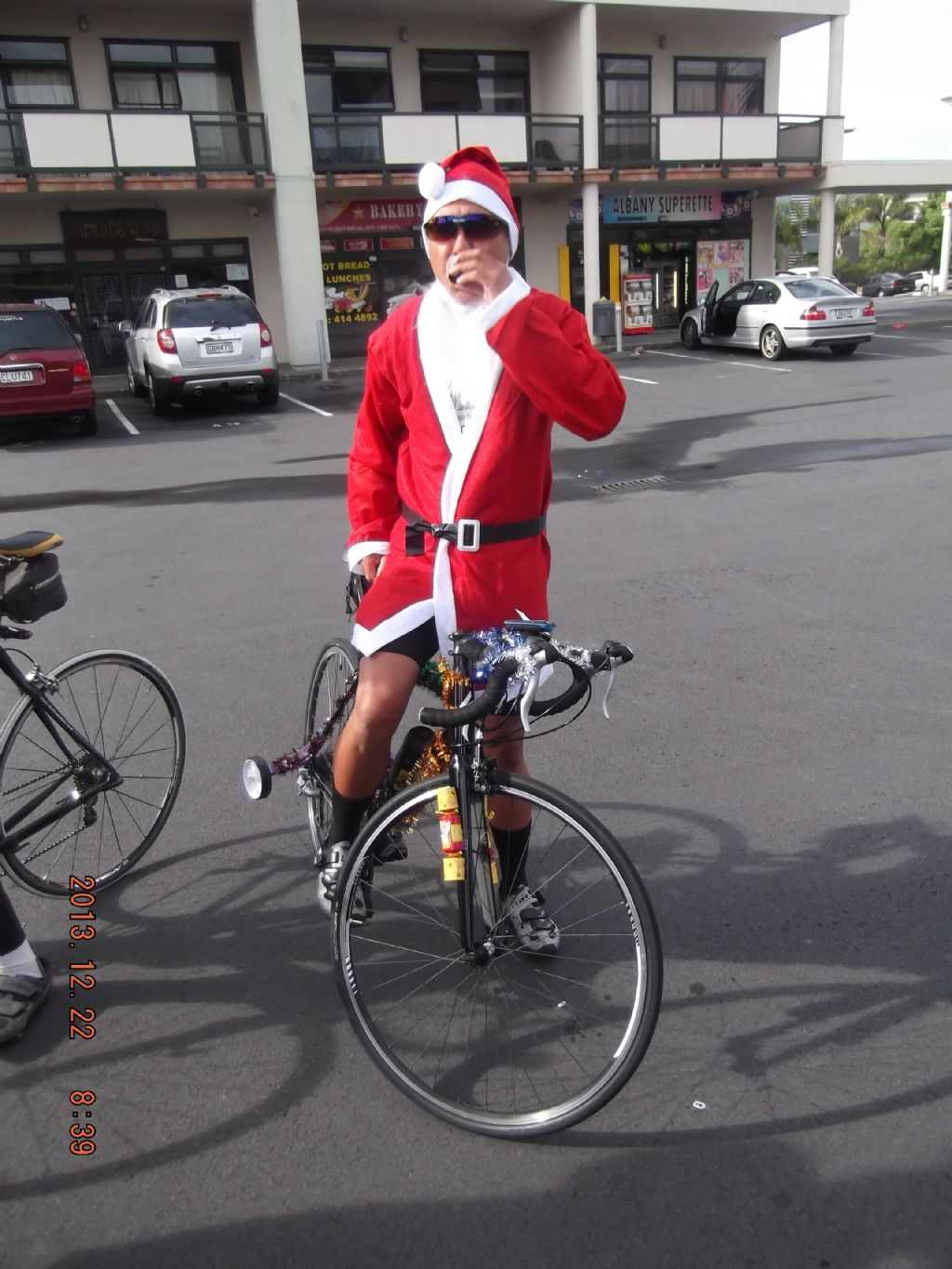 Santa with Trainer wheels