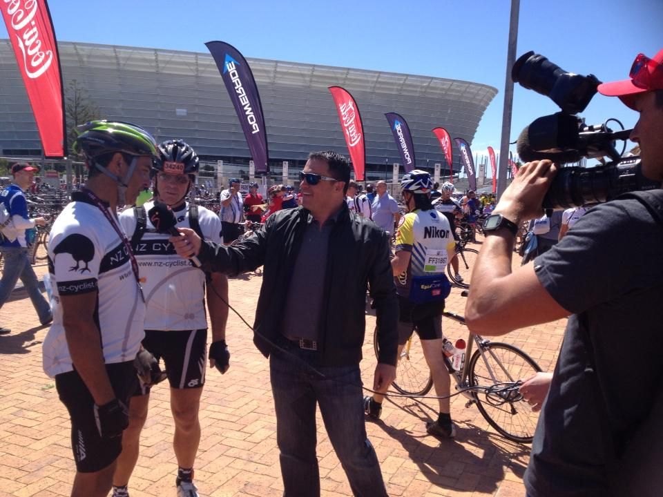 Cape Argus ride . Post ride interview :-)